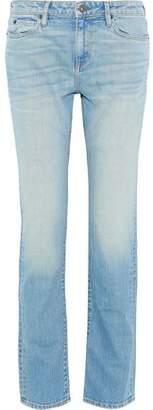Simon Miller Faded High-Rise Straight-Leg Jeans