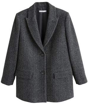 MANGO Textured wool blazer