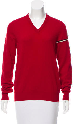 MonclerMoncler V-Neck Wool Sweater