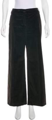 Armani Collezioni Mid-Rise Velvet Pants