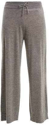 Barrie - Sweet Eighteen Wide Leg Cashmere Trousers - Womens - Grey