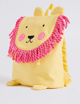 Marks and Spencer Kids' Pure Cotton Lion Tassel Backpack
