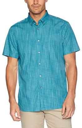 Perry Ellis Men's Short Sleeve Space Dye Shirt