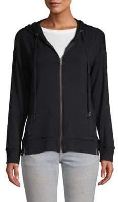 Splendid Cozy Zip-Front Cotton Hoodie
