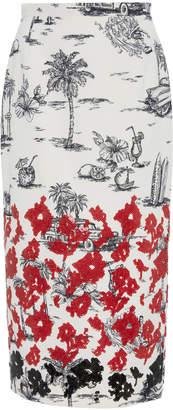 N°21 N 21 Printed Tropical Pencil Skirt