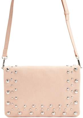 Forever 21 Faux Suede Beaded Crossbody