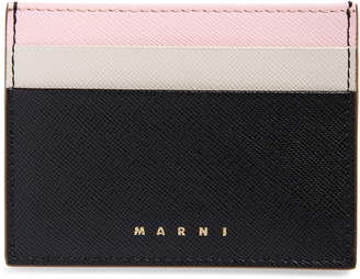 Marni Vanity Color Block Leather Card Holder