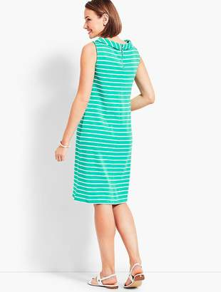 Talbots Audrey-Neck Stripe Interlock Shift Dress