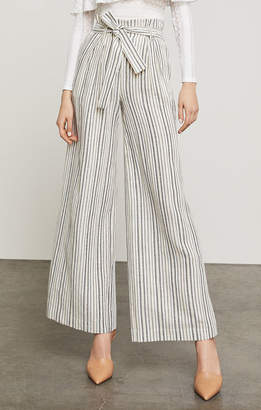 BCBGMAXAZRIA Paperbag-Waist Striped Pant