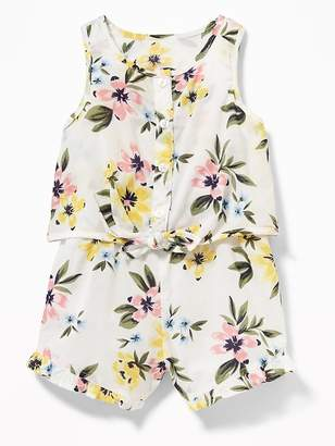 Old Navy Patterned 2-in-1 Ruffled Romper for Baby
