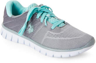 U.S. Polo Assn. Grey & Mint Mandy Low-Top Sneakers