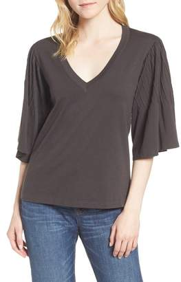 J.Crew J. Crew Pintuck Sleeve Cotton Blouse