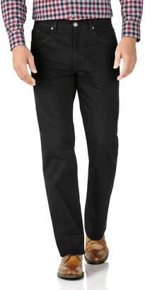 Charles Tyrwhitt Black Classic Fit 5 Pocket Jeans Size W34 L32