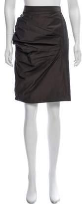 Hache Gathered Knee-Length Skirt