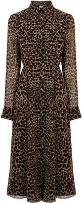 Next Womens Warehouse Leopard Print Midi Dress