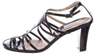 Emporio Armani Patent Leather Cage Sandals