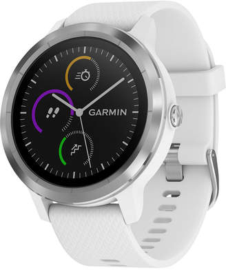 Garmin Unisex vivoactive 3 White Silicone Strap Smart Watch 43mm