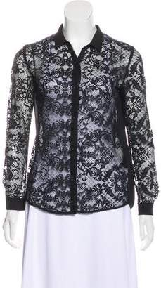 The Kooples Long Sleeve Lace Blouse