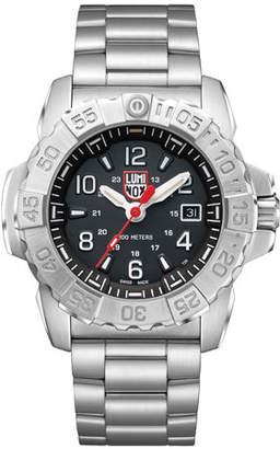 Luminox Men's Navy Seal Bracelet Watch, Silver