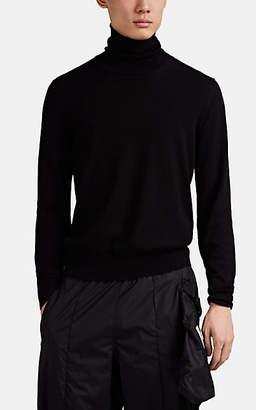 Maison Margiela Men's Cotton-Wool Turtleneck Sweater - Black
