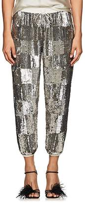retrofête Women's Stacia Checked Sequined Jogger Pants