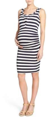 LAB40 'Joy' Sleeveless Maternity/Nursing Midi Dress