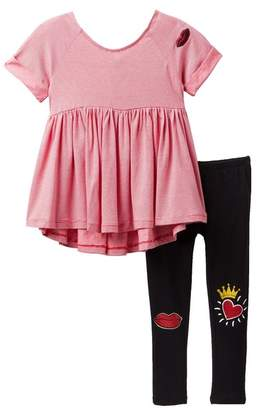 Flapdoodles High Low Tunic Set (Toddler & Little Girls)