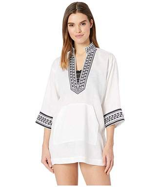 Tory Burch Swimwear Embroidered Tory Tunic Cover-Up