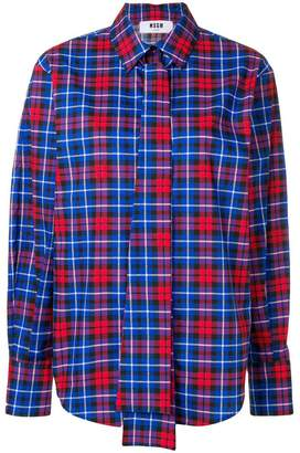 MSGM check long-sleeve shirt