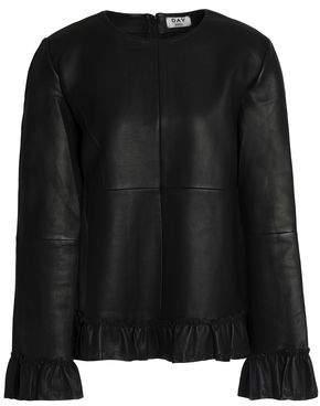 DAY Birger et Mikkelsen Ruffle-Trimmed Leather Top