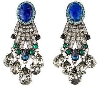 Lanvin Multistone & Crystal Chandelier Earrings