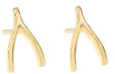 Jennifer Meyer Yellow Gold Wishbone Studs