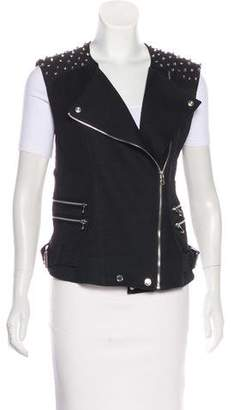 Pierre Balmain Embellished Zip-Up Vest