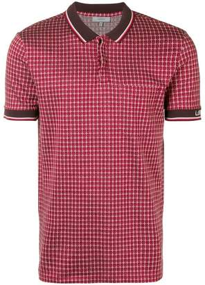 Lanvin patterned polo shirt