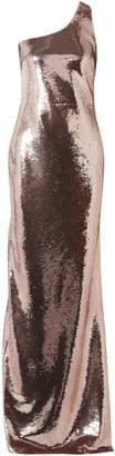 Tom Ford (トム フォード) - Tom Ford ワンショルダー スパンコール付き ストレッチメッシュ ロングドレス