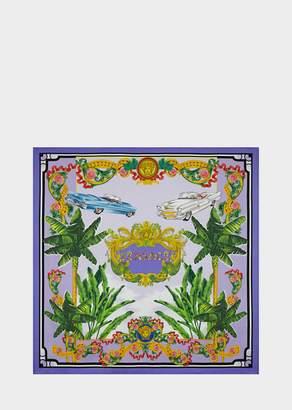 Versace Beverly Palm Silk-Twill Foulard