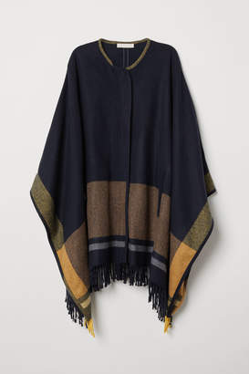 H&M Poncho with Zip - Blue