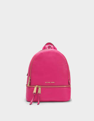 MICHAEL Michael Kors Rhea Zip Medium Backpack in Ultra Pink Soft Venus Leather