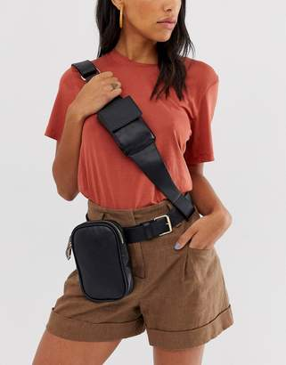 Asos Design DESIGN utility bum bag with cross body detail