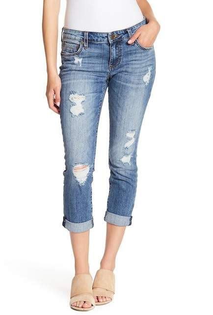 KUT from the Kloth Catherine Distressed Boyfriend Jeans (Petite)