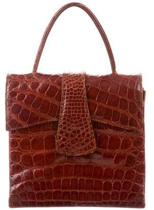 Saks Fifth Avenue Alligator Handle Bag