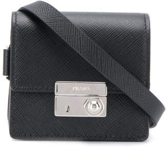 Prada neck strap wallet