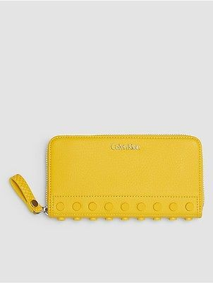 Calvin Klein Calvin Klein Womens Studded Large Zip Wallet Torch