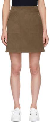 A.P.C. Beige Corduroy Cord Skirt