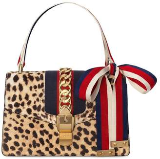 Gucci Sylvie shoulder bag with leopard print