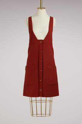 Chloé Buttoned Wool Mini Dress