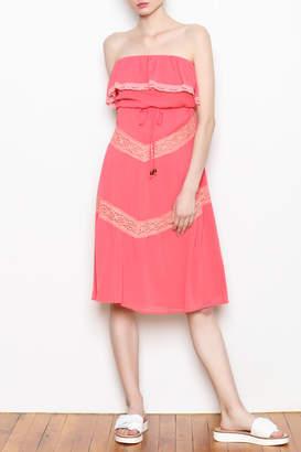 Luce C. Strapless Ruffle Dress
