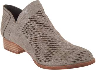 Vince Camuto Perforated Suede Booties - Clorieea