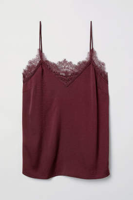 H&M Satin Camisole Top - Red