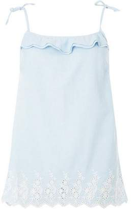 Dorothy Perkins Womens **Tall Chambray Broderie Camisole Top